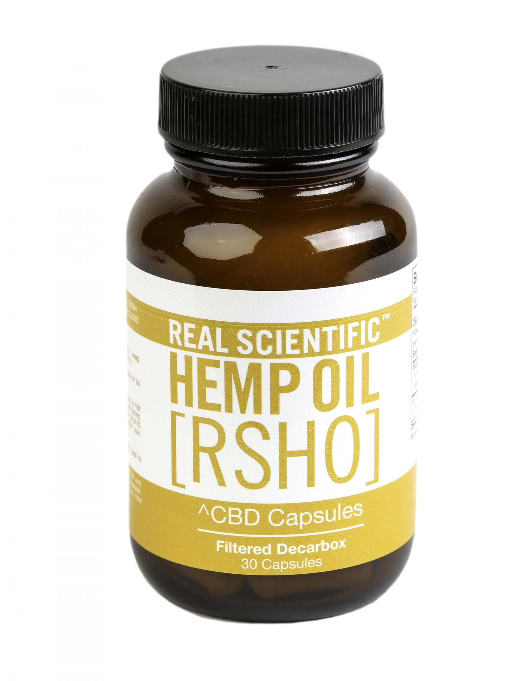 Gold Label CBD Hemp Oil Capsules (25mg CBD) 30 Count