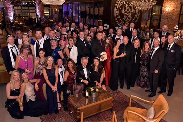 the black-tie partygoers