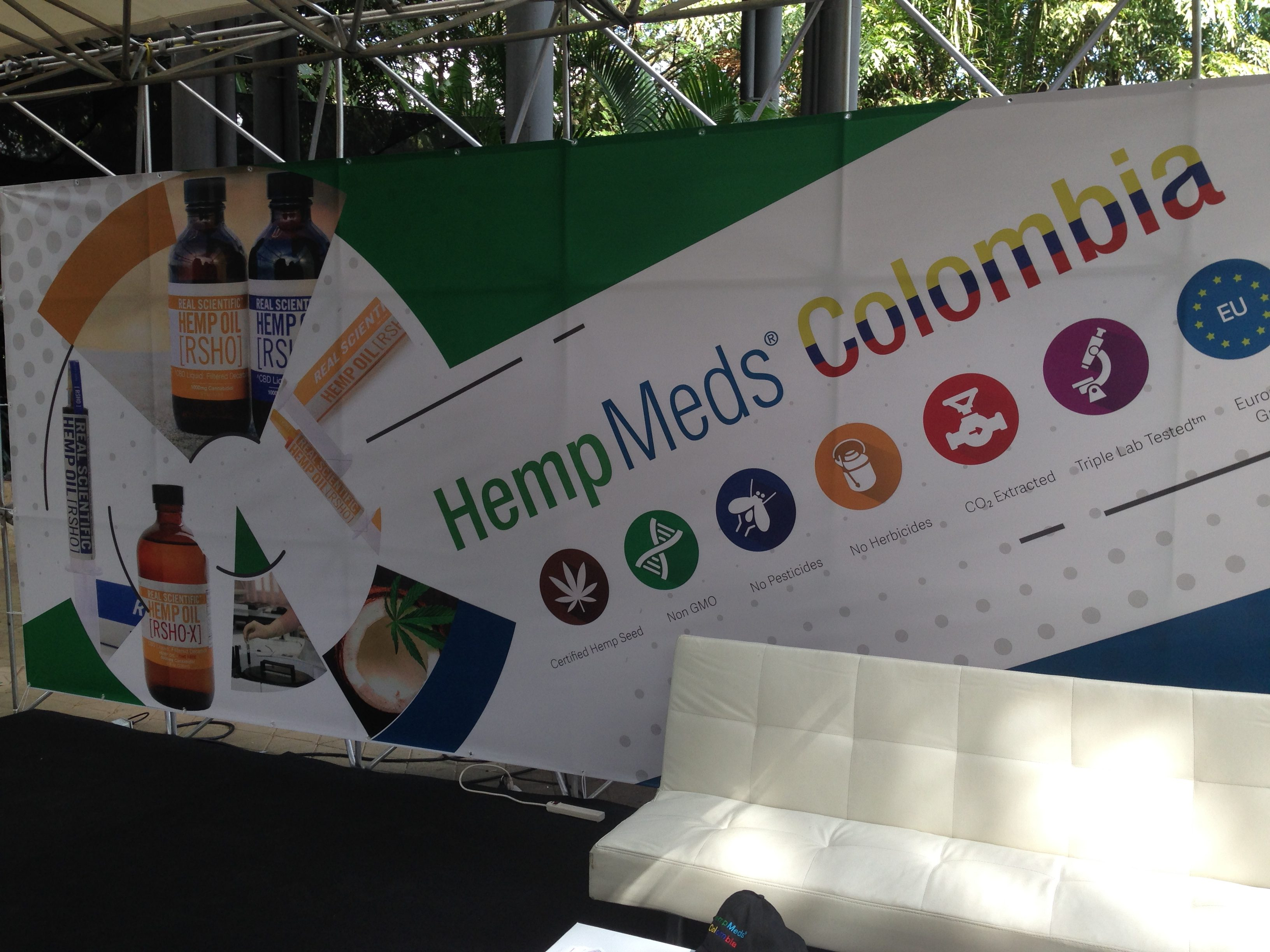 hempmeds colombia expo booth
