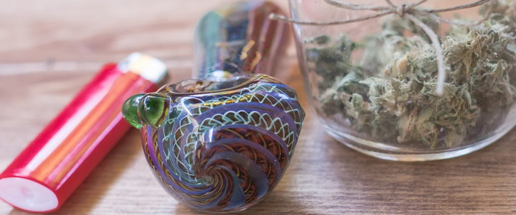 glass bowl marijuana flower