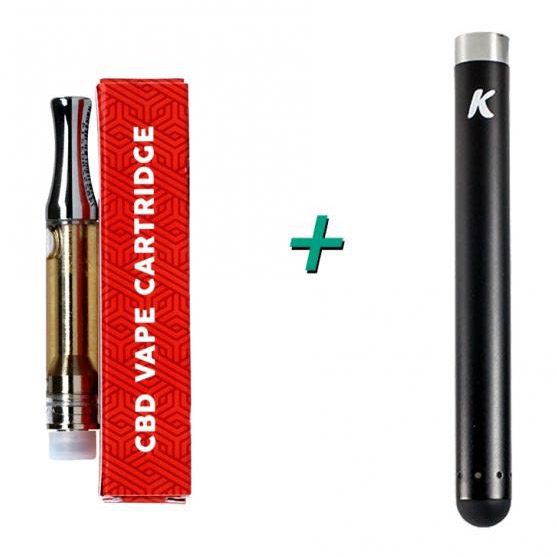 CBD Vape Cartridge (250mg) + Kandypens slim Battery Bundle